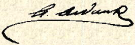 Signature of Arthur AUDCENT